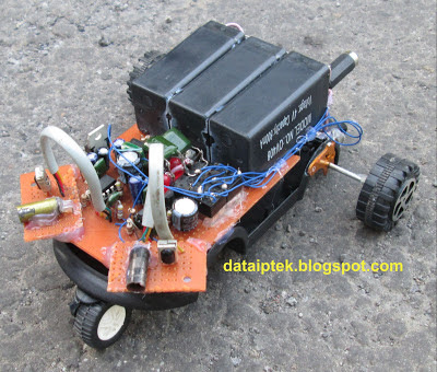 Gambar Robot sederhana sensor jarak