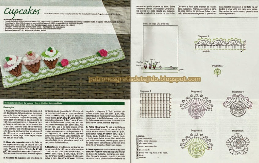 Puntillas y apliques para decorar | Crochet y Dos agujas - Patrones ...
