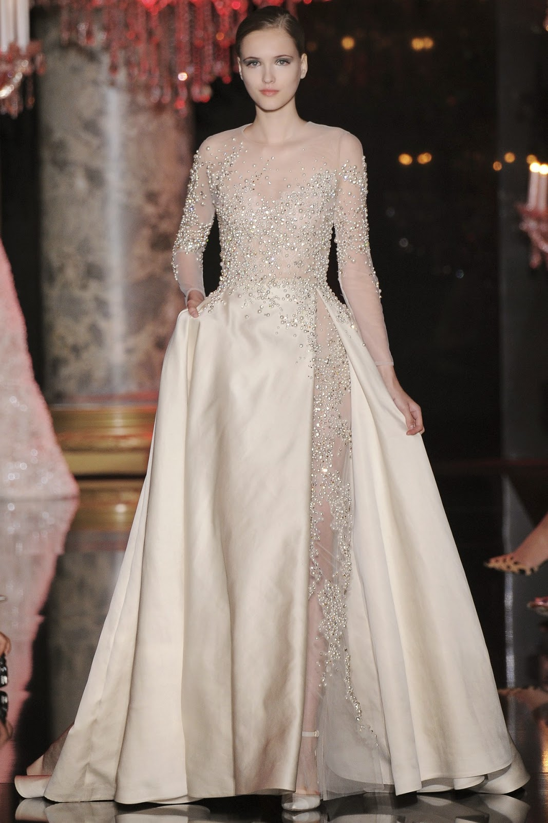 Modest Elie Sabb Haute Couture 2015 dress | Mode-sty #nolayering tznius tzniut jewish orthodox muslim islamic pentecostal mormon lds evangelical christian apostolic mission clothes Jerusalem trip hijab fashion modest muslimah hijabista bride