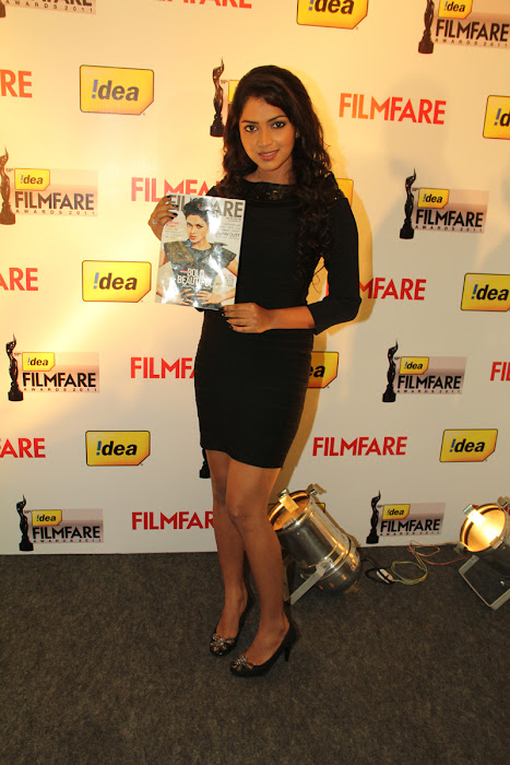 amala paul at 59th filmfare awards press meet amala paul at filmfare magazine cover june 2012 cute stills