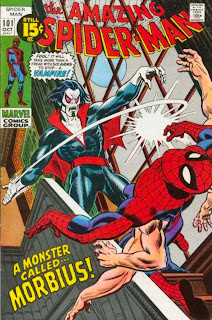 Cover image of Amazing Spider-Man #101. First Appearance of Morbius