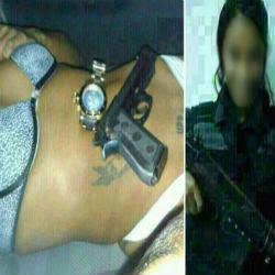 novos vídeos Morena da UPP posa com armas de PMs e fotos vazam