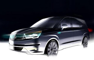 SsangYong Rodius (2014 Rendering) Front Side