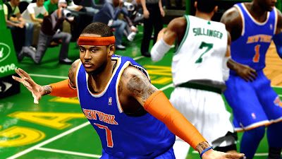NBA 2K13 Carmelo Anthony Cyberface Mod
