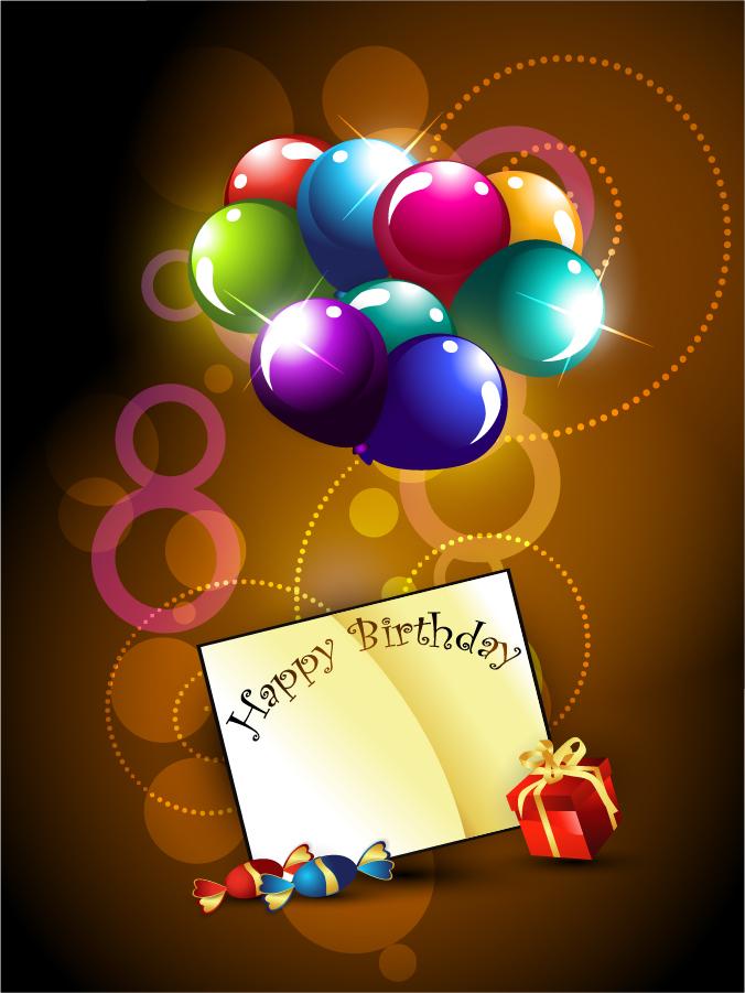 お洒落な誕生日カードの背景 happy birthday postcard イラスト素材