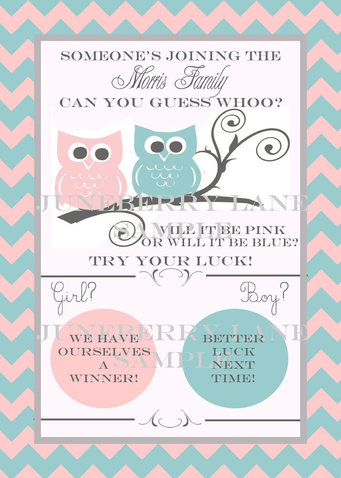 Juneberry Baby Scratch Off Gender Reveal Announcements Part 2