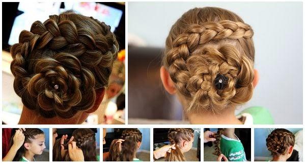 how to make a hair headband : Rose Bud Flower Braid Hairstyle Tutorial For Girls - dashingamrit