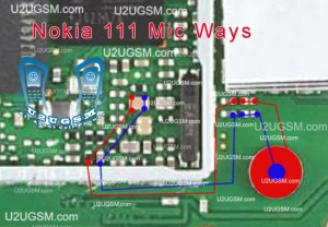 Nokia 111 Mic Problem Solution Jumpers Diagram