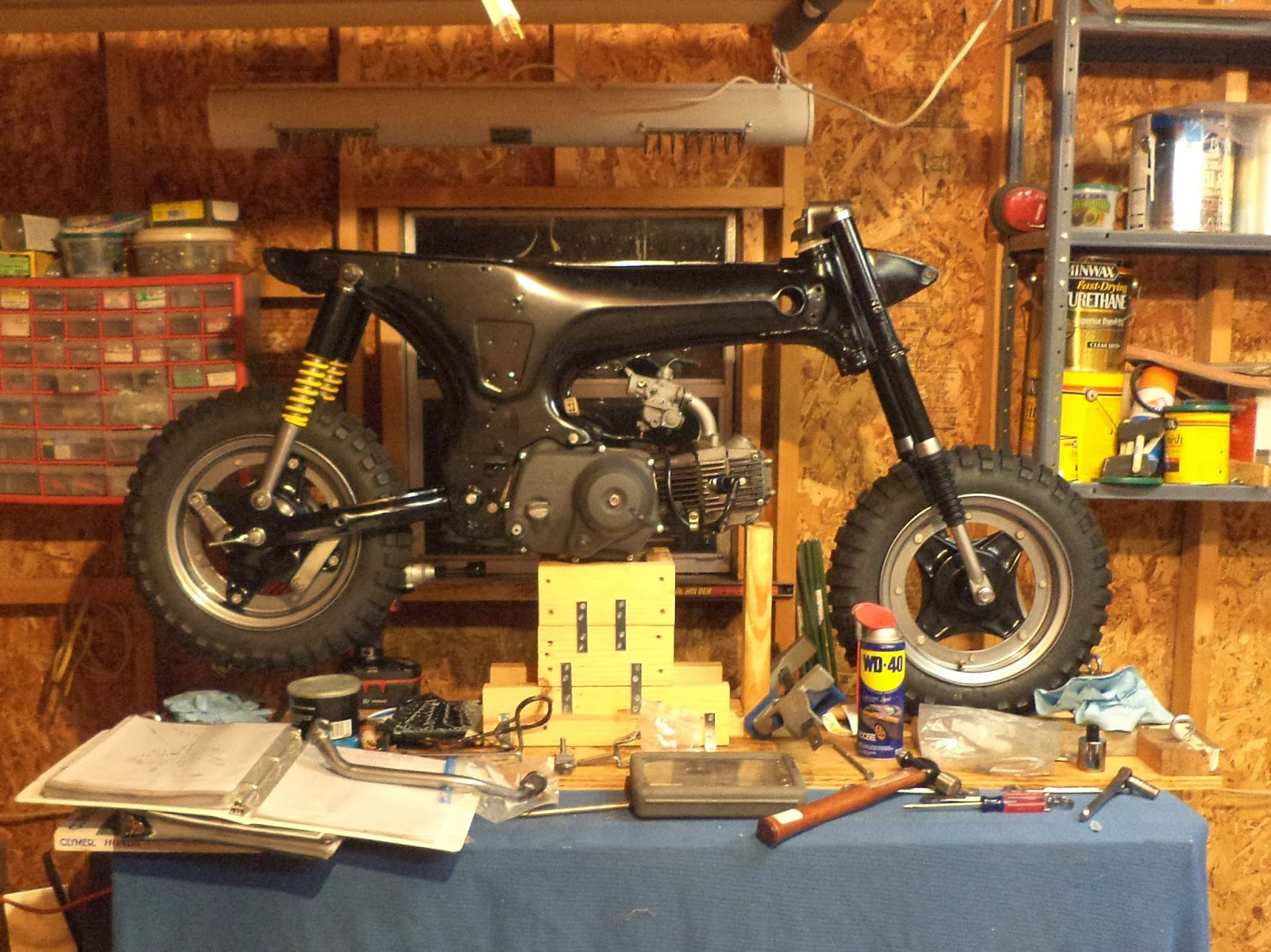 Tear it up, fix it, repeat: CT70 Rear Wheel and Brake