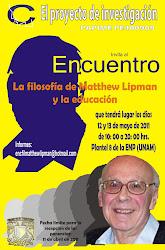 Encuentro La filosofía de Matthew Lipman y la educación
