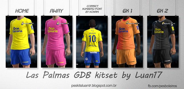PES 2013 Las Palmas GDB Kitset 2015-16 by Luan17