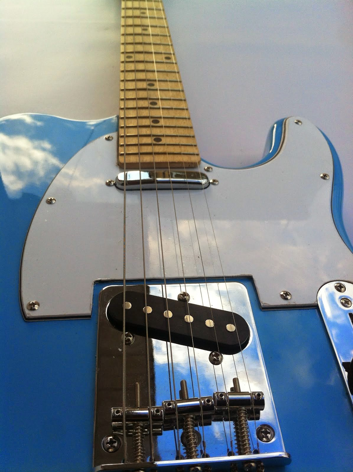 "Telecaster ""Rulez Queen"" SKY"