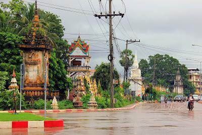 Die Hauptstadt der Provinz Pakse Champasak - Laos