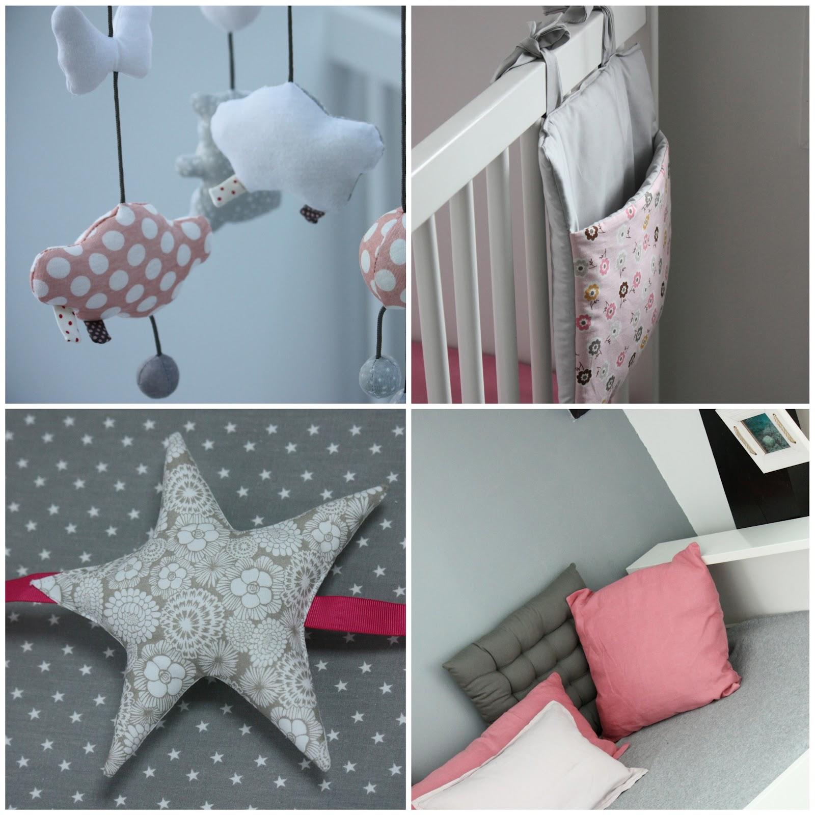 Un nouveau regard: Chambre bébé rose & grise