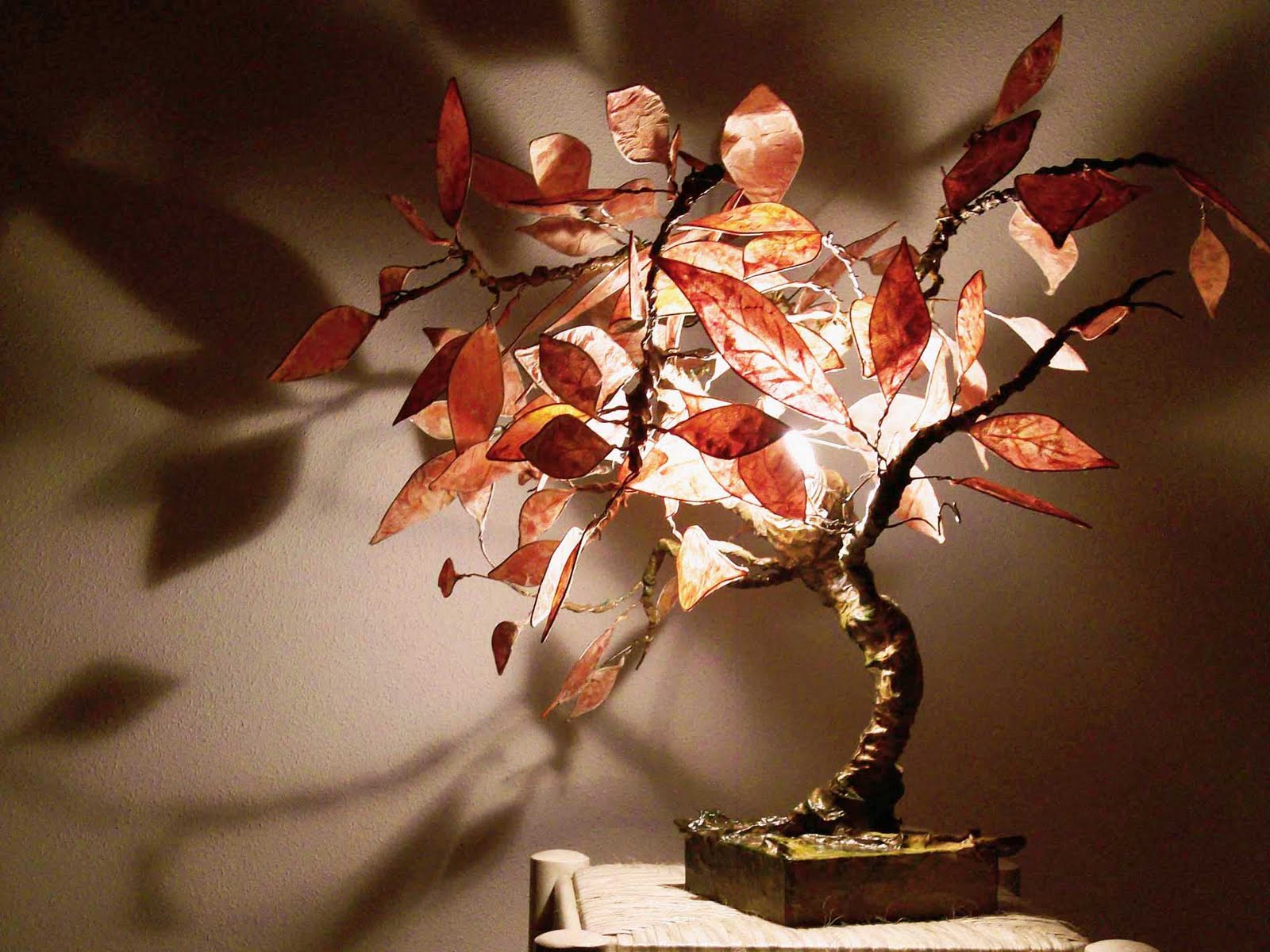 L mparas decorativas bright tree las l mparas - Lamparas de pie artesanales ...