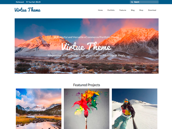 virtue free wordpress theme
