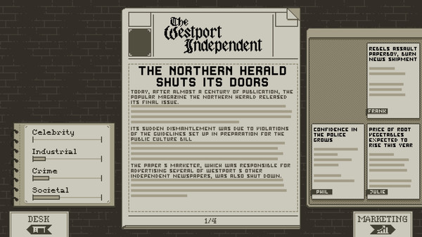 The Westport Independent PC Game Free Download