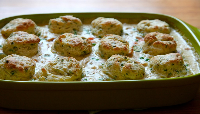 ... to Rags* by Dori: Chicken Pot Pie with Cream Cheese and Chive Biscuits