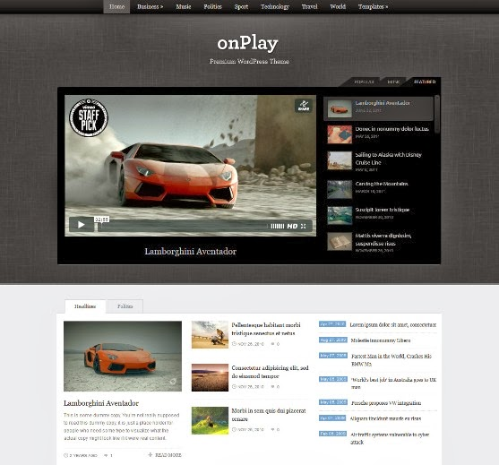 onPlay - Video WordPress Theme