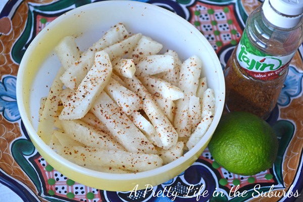 Jicama Lime Snack Sticks - A Pretty Life In The Suburbs