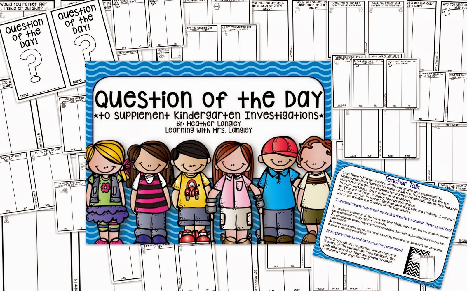 http://www.teacherspayteachers.com/Product/Question-of-the-Day-Kindergarten-Investigations-Supplement-1530722