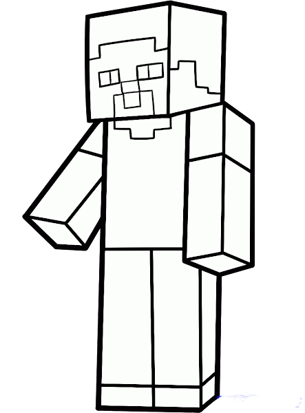Steve From Minecraft Coloring