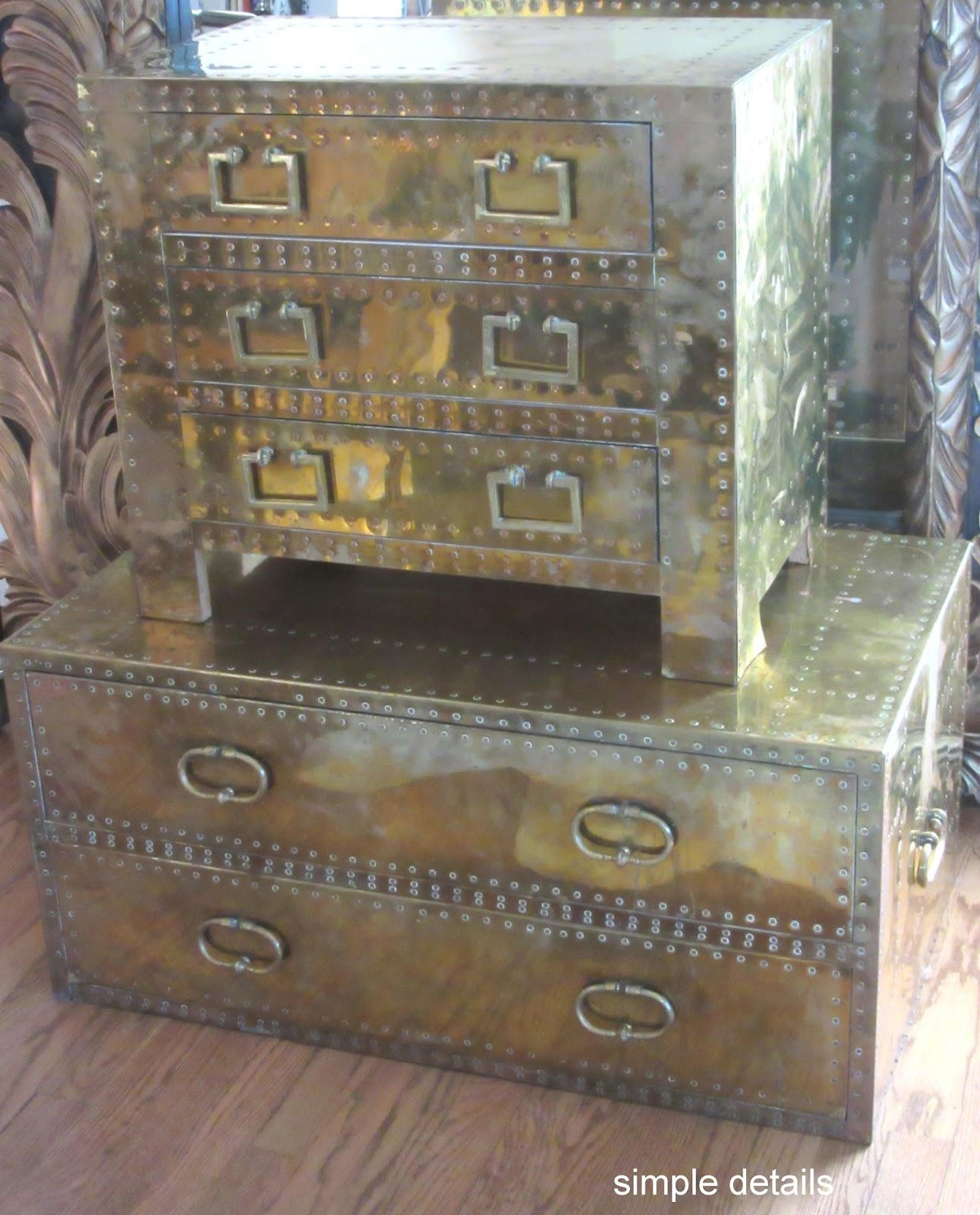 simple details craigslist score vintage brass trunks