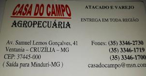 COMPRE BEM NA CASA DO CAMPO DE CRUZÍLIA