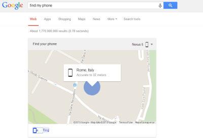 cerca il telefono su google