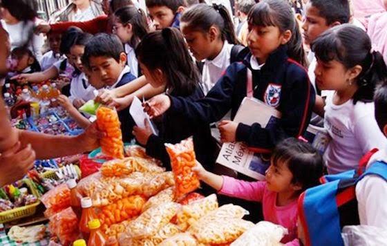 La mala alimentación en niños de primaria
