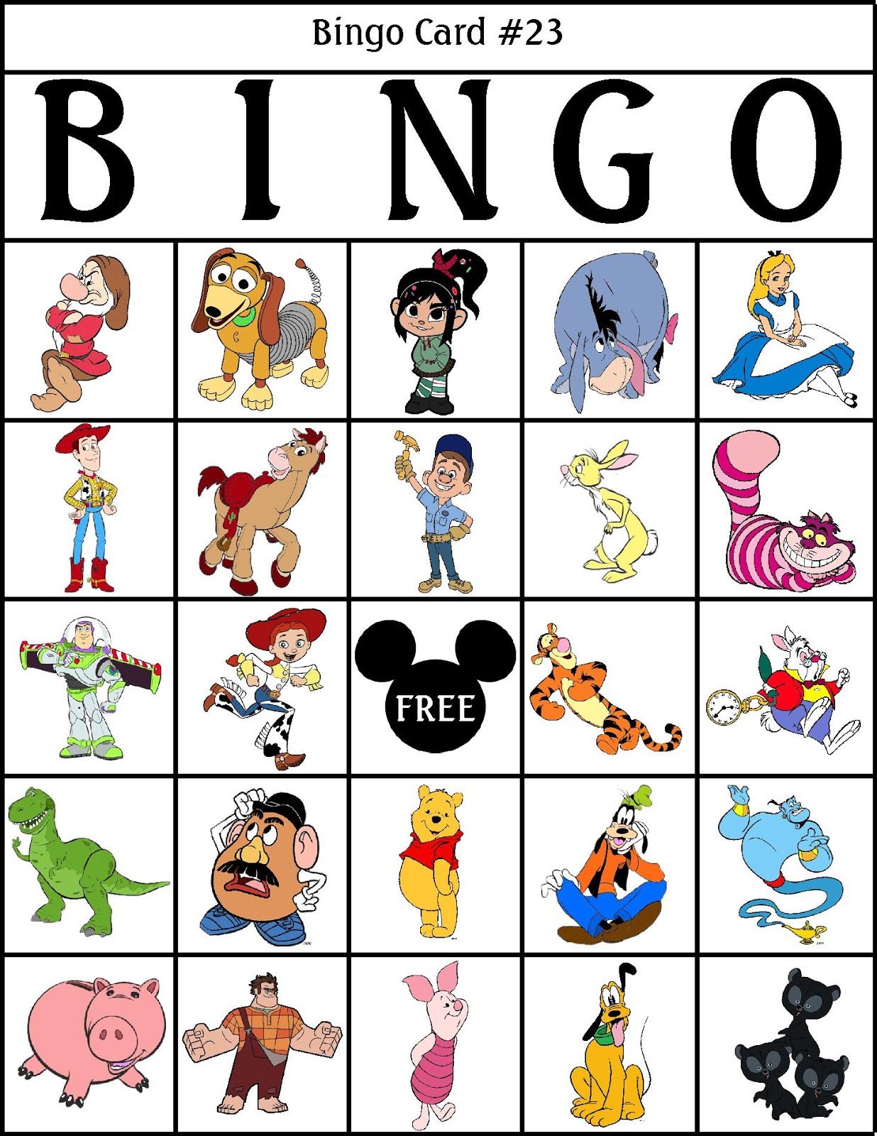 graphic about Disney Bingo Printable identified as RobbyGurls Creations: Disney Bingo