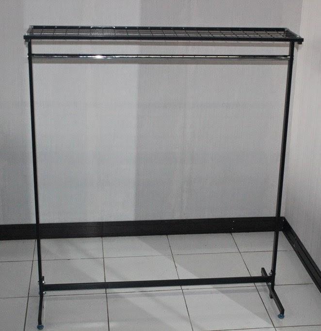Rak+Gawang+beroda+warna+hitam+jual+rak+gudang rak+minimarket rak+gantungan +rak+gantungan+baju RAK GAWANG BAJU