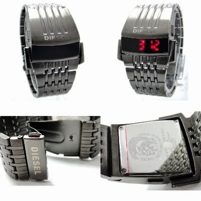 diesel cyborg transformers iron man jam tangan led dengan desain robot