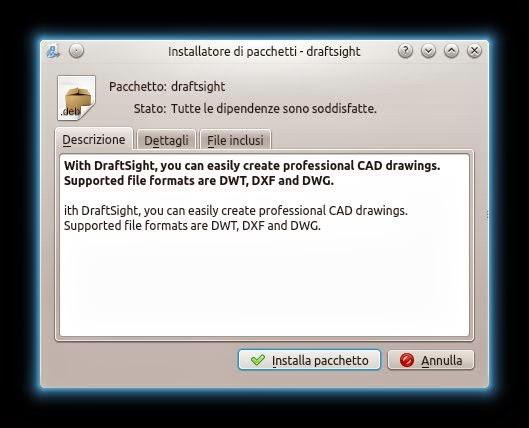 installazione draftsight ubuntu ubuntu