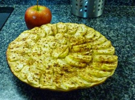 Hojaldre de manzana con canela