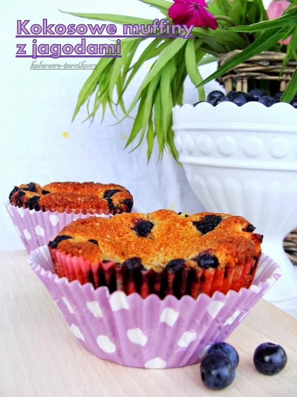 Kokosowe muffiny z jagodami ( Lubelski kociołek VII )