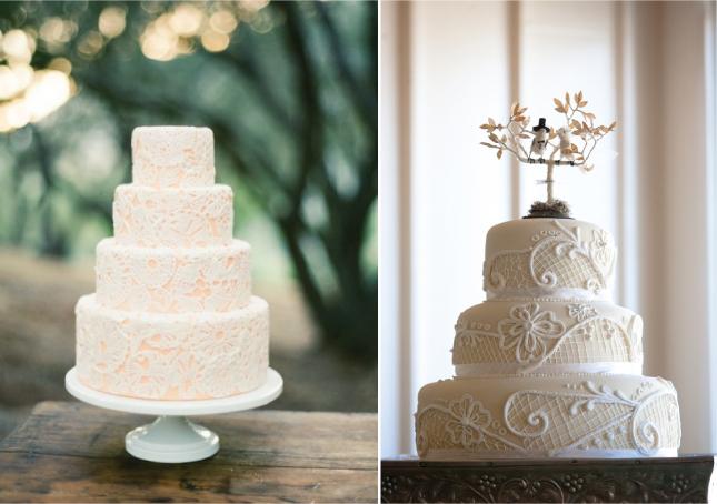 Image Source Vintage Coral Cake By Santa Barbara Wedding Bird Topper