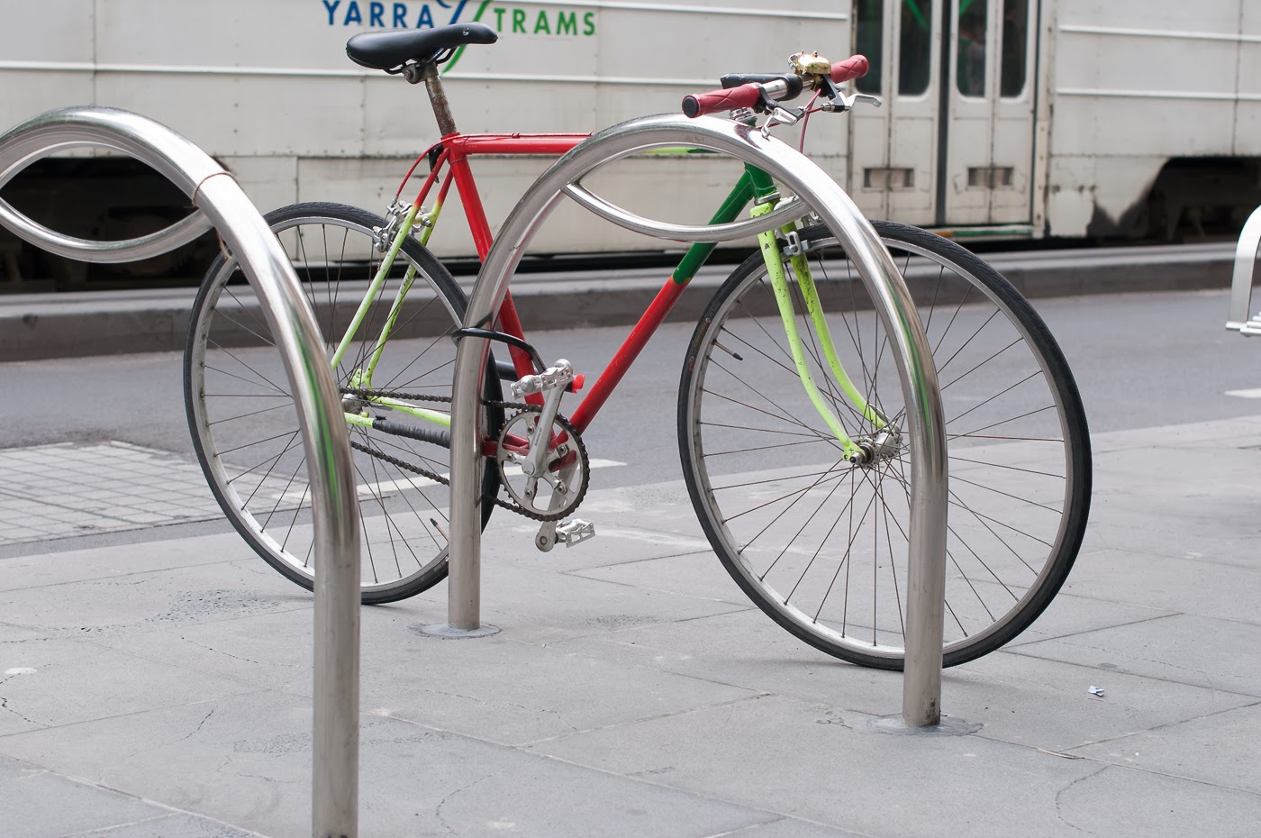 Pub bike, bike, bicycle, conversion, road bike, tim macauley, the biketorialist, Melbourne, Australia, swanston st, frame