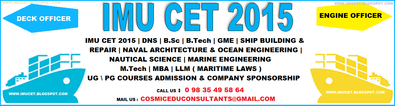 IMU CET 2015 | IMU CET 2015 APPLICATION FORMS | JOIN MERCHANT NAVY | COMPANY SPONSORSHIP |