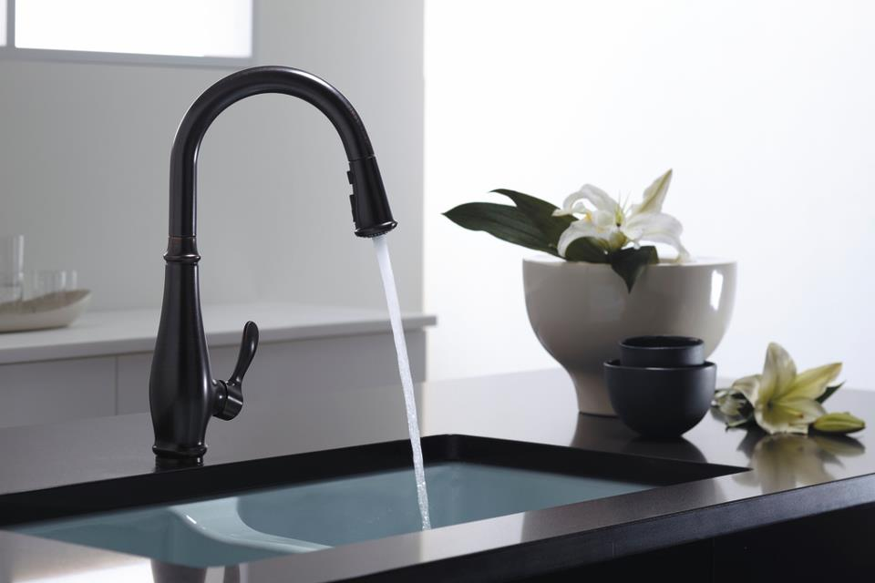 splendid sass kohler vigo matte black pull out spray kitchen faucet 16925751