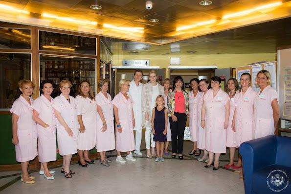Red Cross of Monaco at Princess Grace Hospital in Monaco.