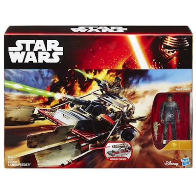 TOYS : JUGUETES - STAR WARS 7 Desert Landspeeder + Finn (Jakku) | Vehículo + Figura Producto Oficial Película Disney 2015 | Hasbro B3674 | A partir de 4 años Comprar en Amazon España & buy Amazon USA