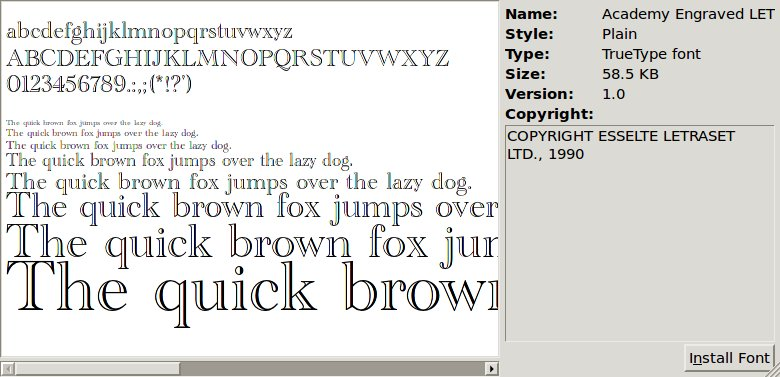 install fonts linux: