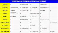 Calendario de Carreras 2013