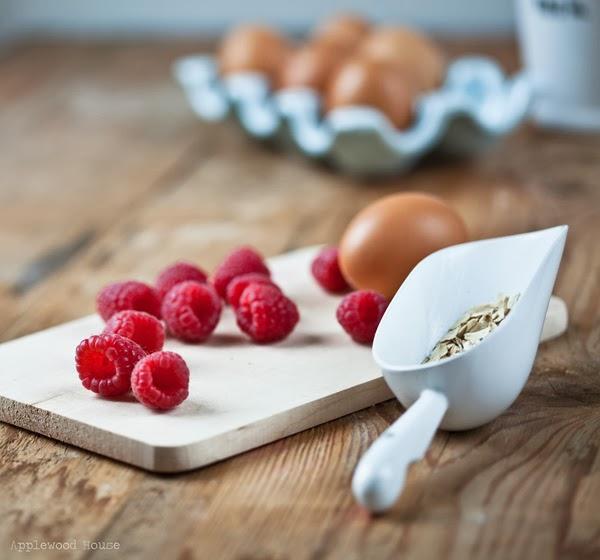 Gesundes Frühstück Muffins Himbeer Haferflocken Rezept