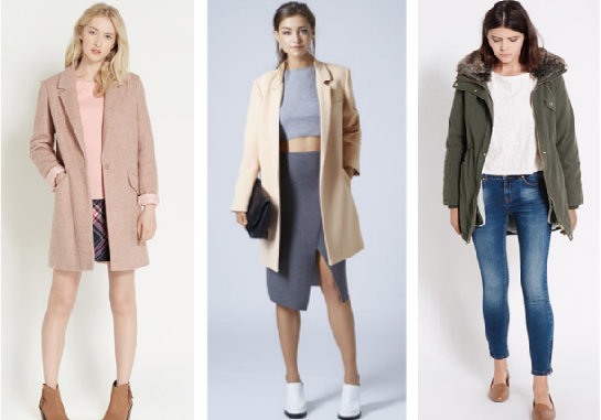 Oasis, Topshop coats