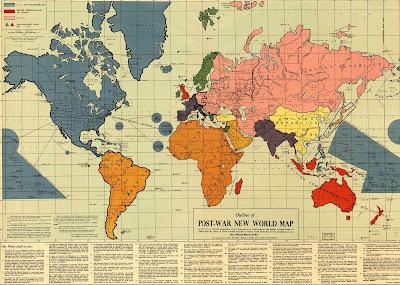Após a Segunda Guerra Mundial já havia um mapa mundi redesenhado para uma Nova Ordem