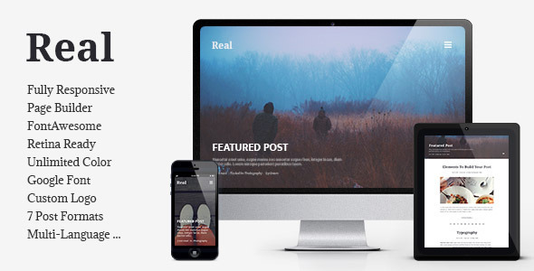 Download Free REAL v1.3.1 Responsive Blog WordPress Theme