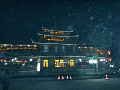 The entrance to Liu San Jie natural theater Yangshuo