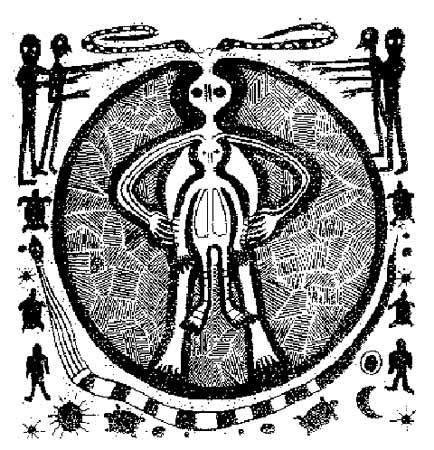 Val Camonica un valle con pinturas y petroglifos con escenas de seres extraterrestres. Italy-Cave-Painting